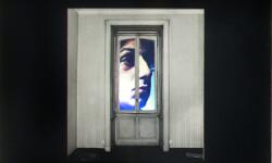 Davide Mosconi, Il sogno di Davide (finestra con M. Vitali) detail, 1968, light box, galleria Il Ponte, Firenze