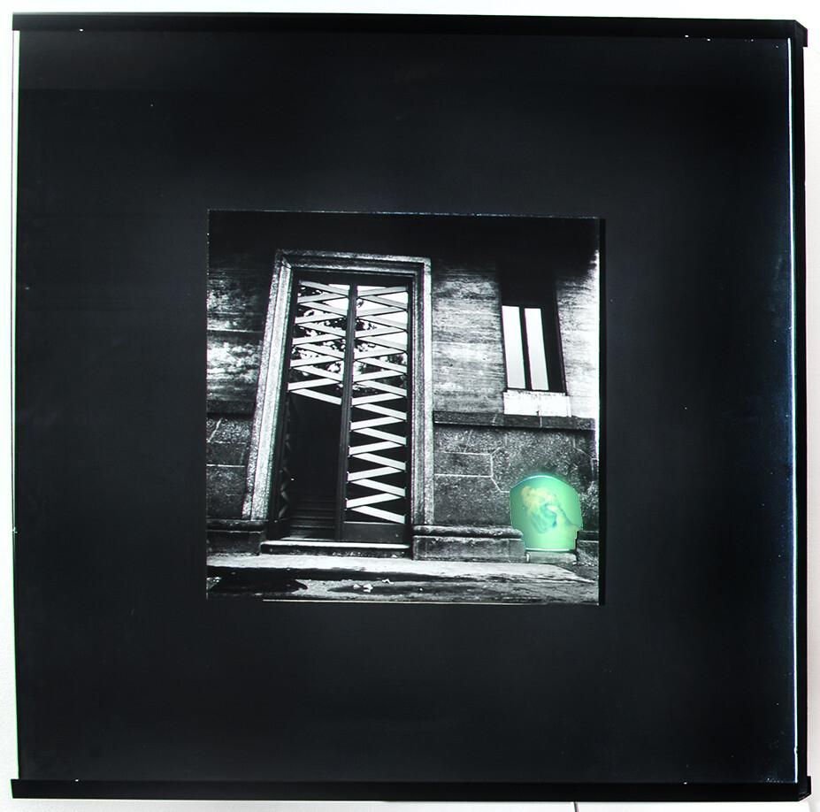 Davide Mosconi, Il sogno di Davide (portone Corso Sempione), 1968, light boxes, galleria Il Ponte, Firenze