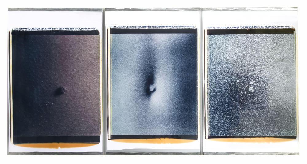 """Davide Mosconi, Trittico """" dell'Ombelico"""", 1990:91, galleria Il Ponte, Firenze"""