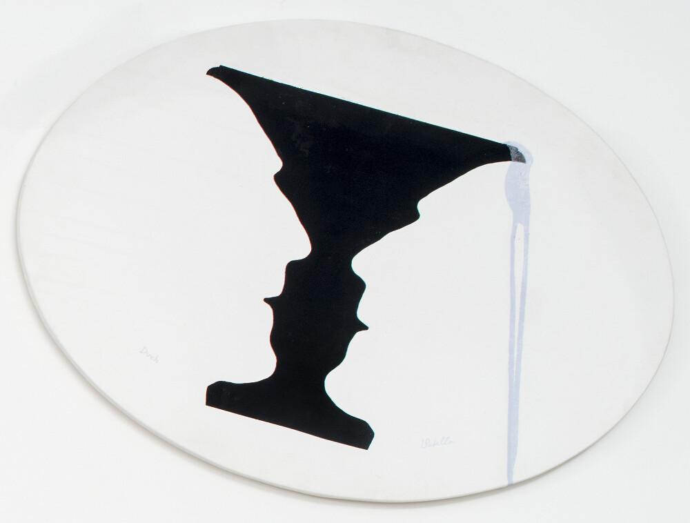 Luca Maria Patella, DUCH (in età e che verso Spirito), 1983 (Vasa Physiognòmica picta), galleria Il Ponte, Firenze_