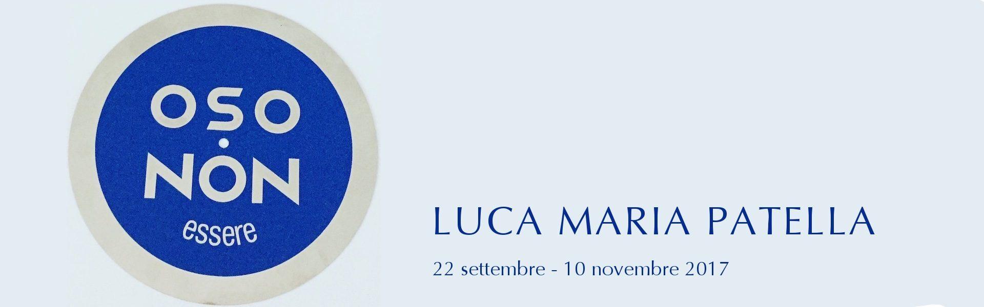 Luca Maria Patella, NON OSO : OSO NON essere, 2017, galleria Il Ponte, Firenze