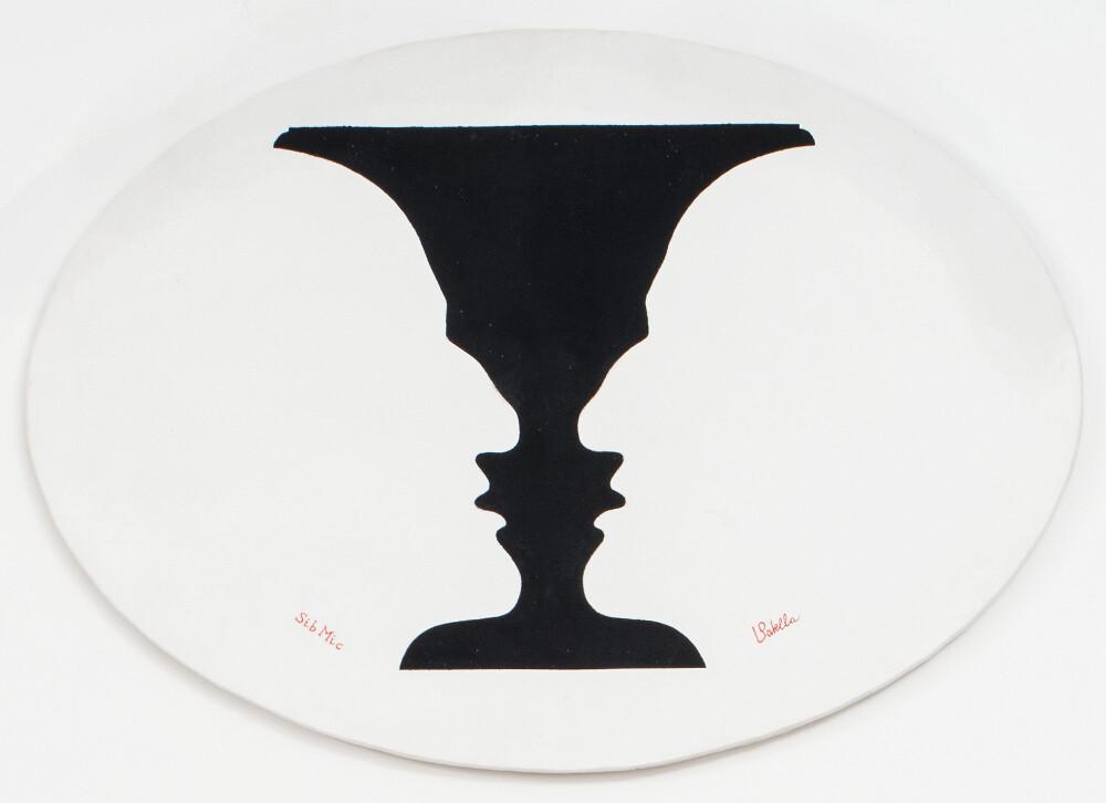 Luca Maria Patella, Sibilla Cumana da Michelangelo, 1983 (Vasa Physiognòmica picta), galleria Il Ponte, Firenze