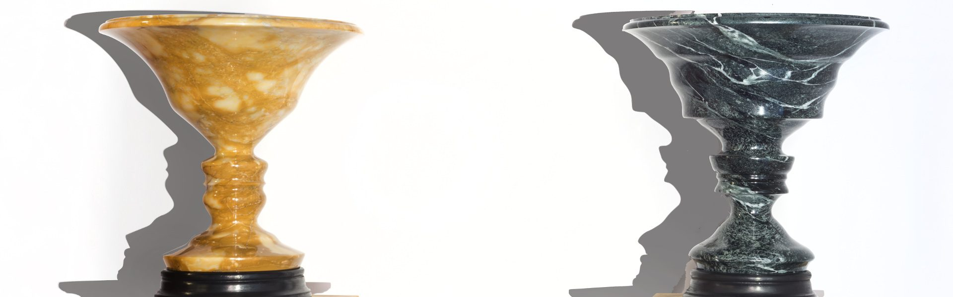 Luca Maria Patella, Vasi fisiognomici di Battista Sforza e di Federico da Montefeltro, galleria Il Ponte, Firenze