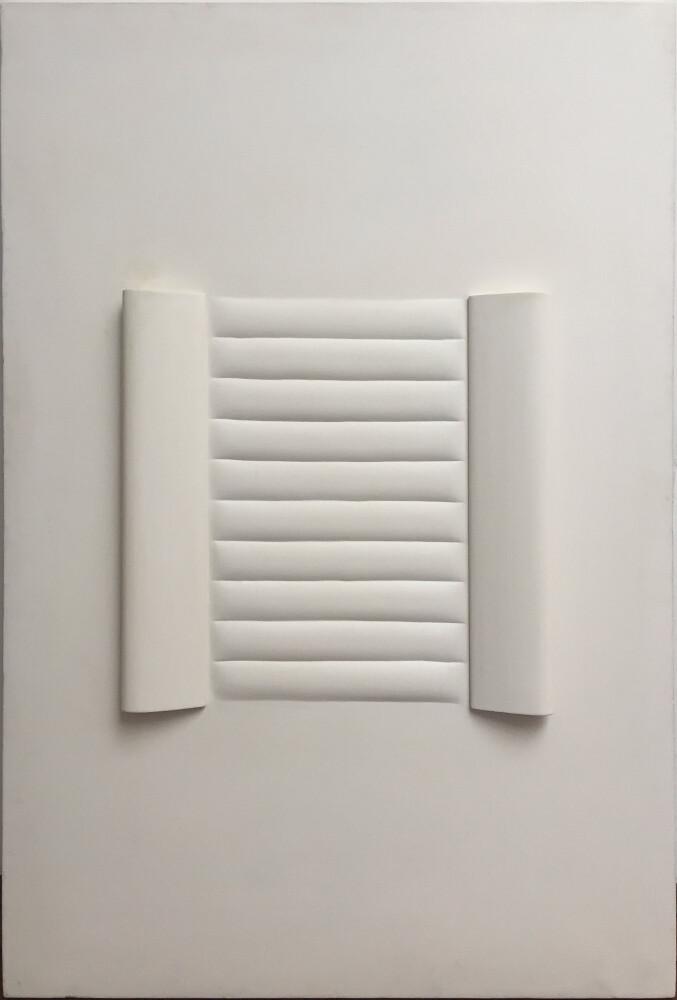 Agostino Bonalumi, bianco, 1966, galleria Il Ponte, Firenze