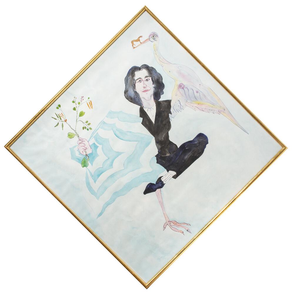 Luigi Ontani, La Felice levitazione di Levini, 1986, galleria Il Ponte, Firenze