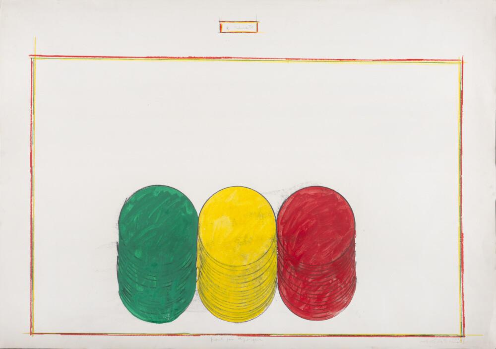 Rodolfo Aricò, Pronti per dipingere, 1966, galleria Il Ponte, Firenze