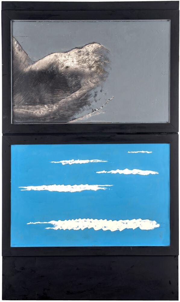 Tano Festa, Particolare di figura, 1964, galleria Il Ponte, Firenze
