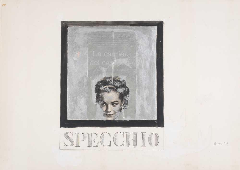 Tano Festa, Specchio, 13 marzo 1963, galleria Il Ponte, Firenze