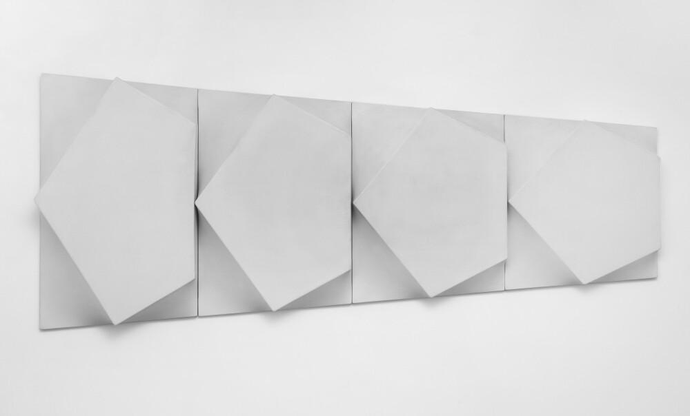 Bruno Gambone, Oggetto, 1970, shaped canvas 4 elements, galleria Il Ponte, Firenze