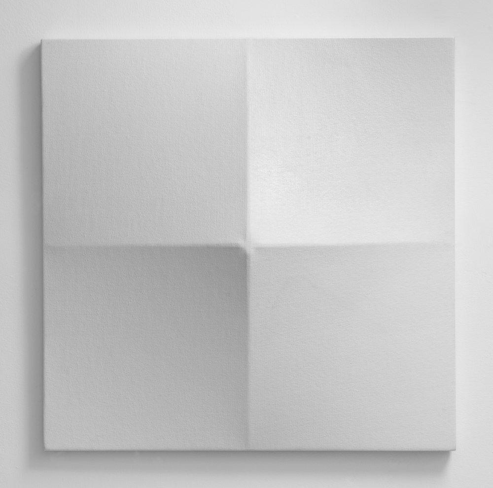 Bruno Gambone, Oggetto, 1970, shaped canvas 60x60x12 cm, galleria Il Ponte, Firenze