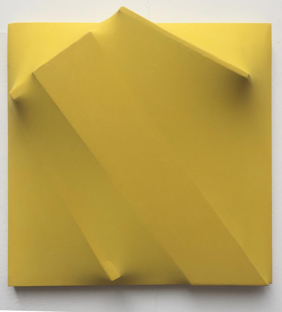 Bruno Gambone, Senza titolo, 1972, shaped canvas, 40x40 cm, galleria Il Ponte, Firenze