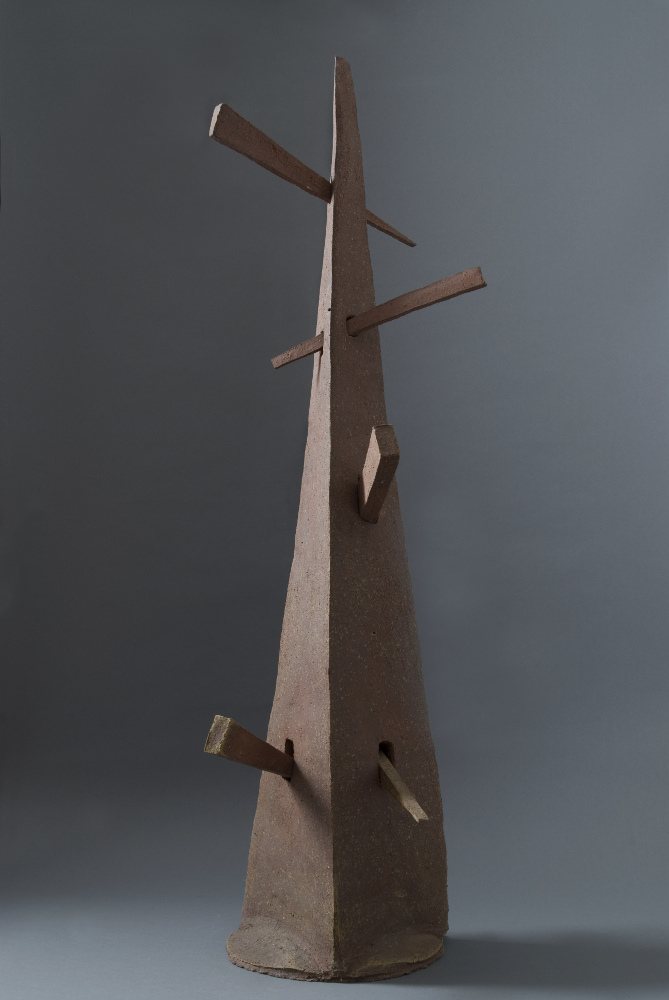 Bruno Gambone, Senza titolo, 1994, wood and gres, galleria Il Ponte, Firenze