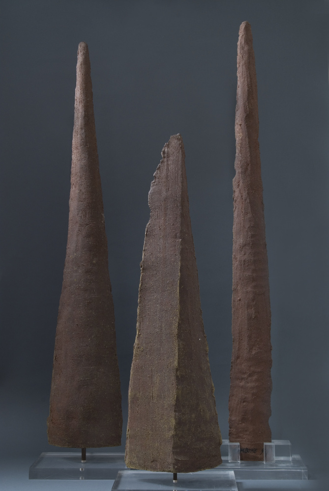 Bruno Gambone, Senza titolo, 2003, gres 3 elements, galleria Il Ponte, Firenze