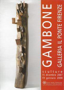 Bruno Gambone, copertina, Sculture, galleria Il Ponte