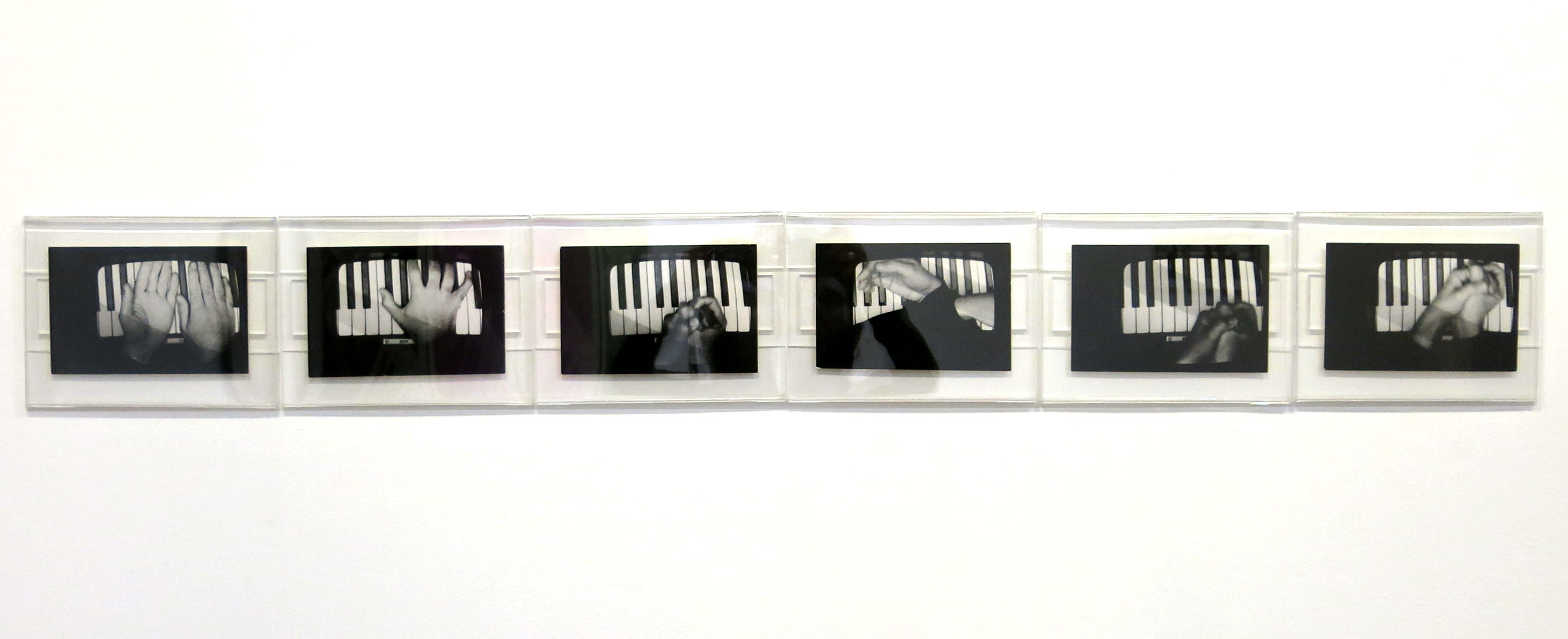 Gesti sul Piano 1975 black and white photographs cm 12x17 4 each