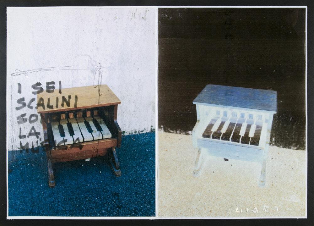 Giuseppe Chiari, I sei scalini sono la musica, (anni '90), galleria Il Ponte, Firenze_1