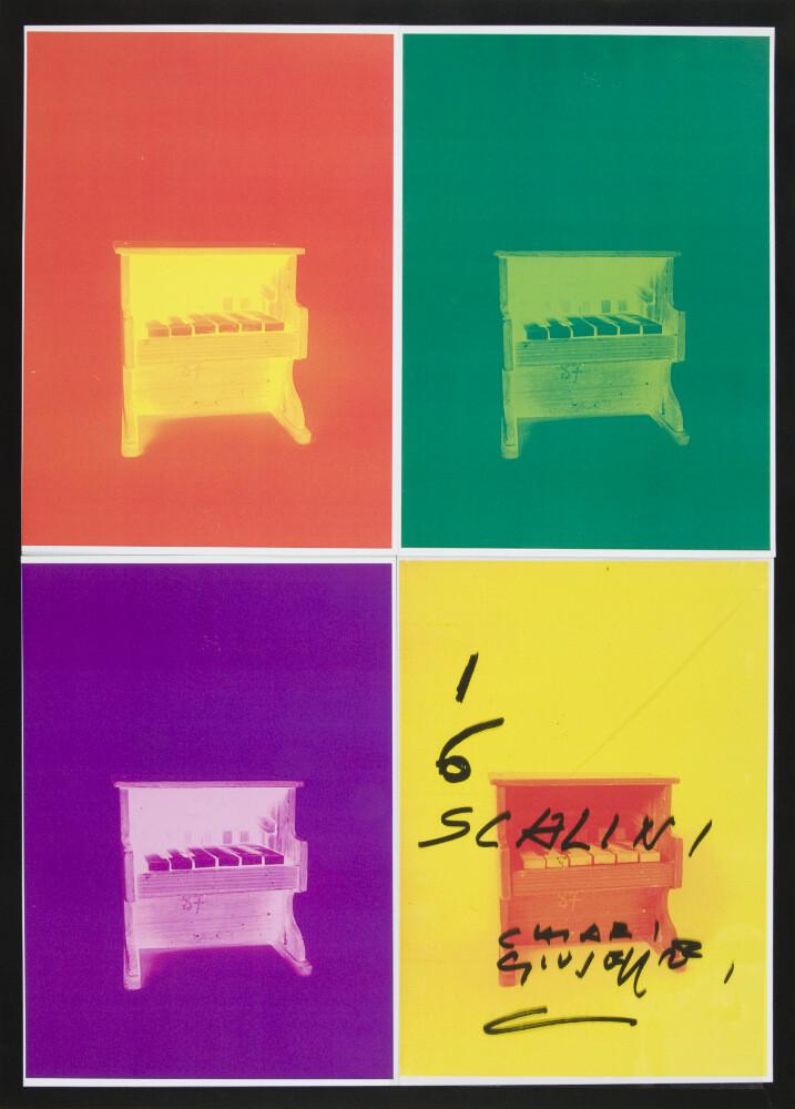 Giuseppe Chiari, I sei scalini sono la musica, (anni '90), galleria Il Ponte, Firenze_2