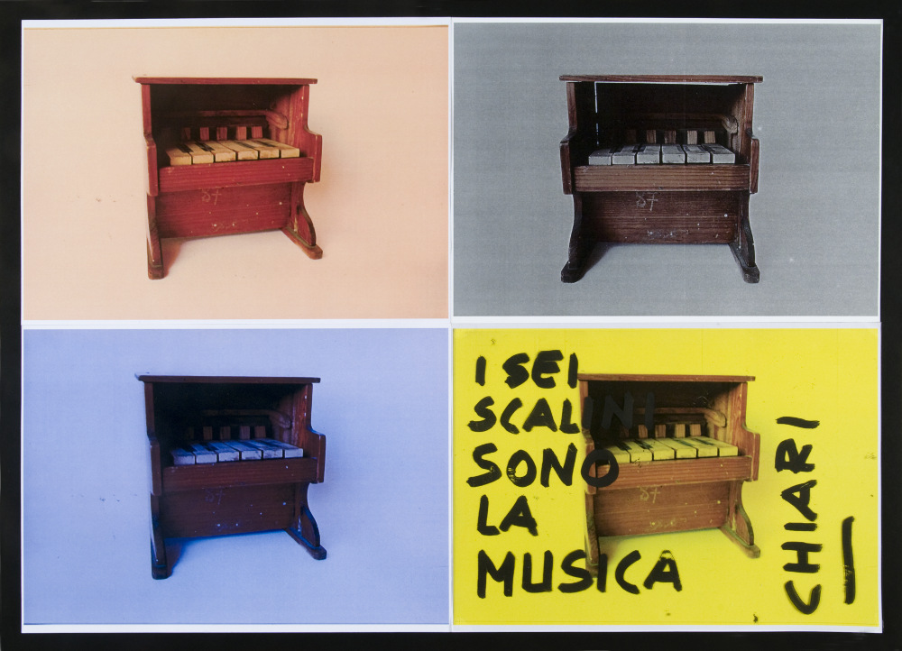 Giuseppe Chiari, I sei scalini sono la musica, (anni '90), galleria Il Ponte, Firenze_48