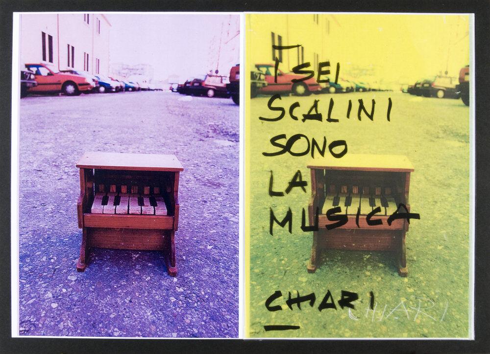 Giuseppe Chiari, I sei scalini sono la musica, (anni '90), galleria Il Ponte, Firenze_7