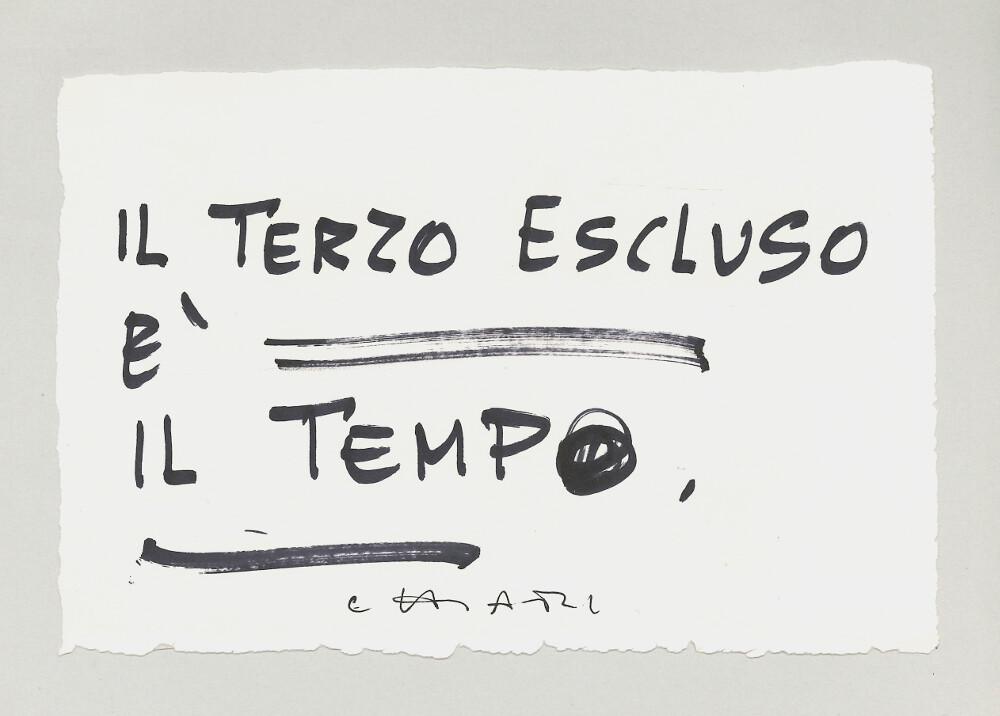 Giuseppe Chiari, Il terzo escluso è il tempo, (2000), galleria Il Ponte, Firenze