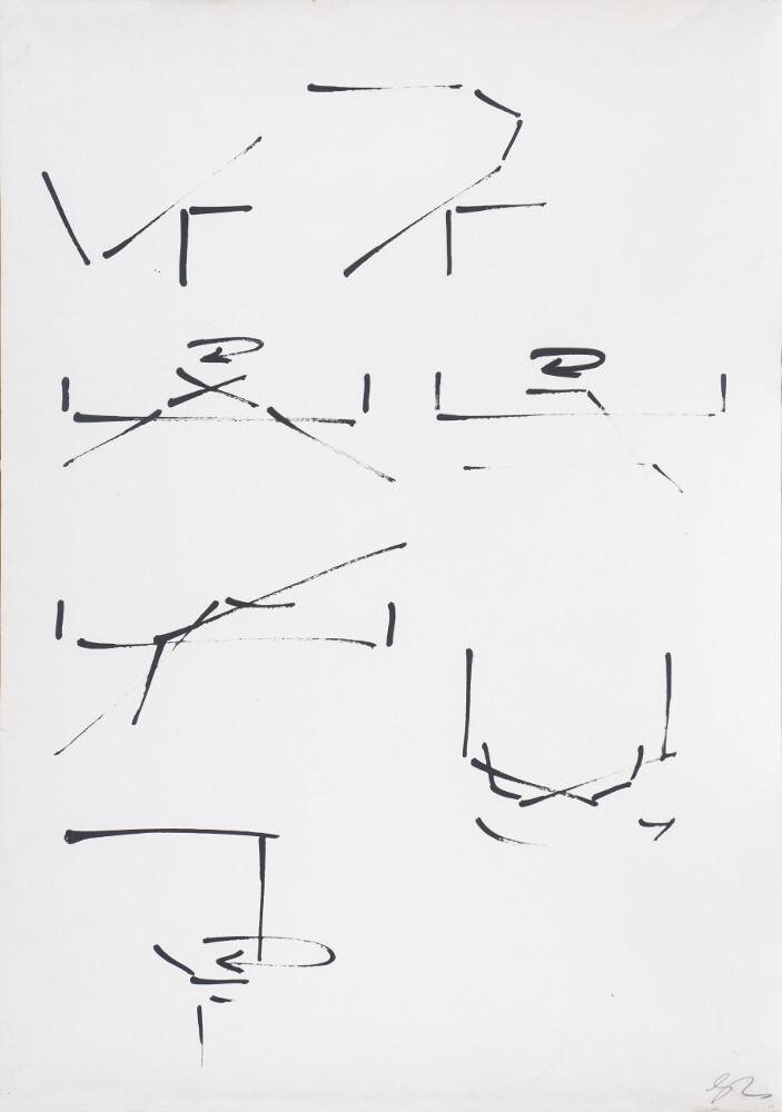 Giuseppe Chiari, Metodo per suonare il pianoforte, 1975, galleria Il Ponte, Firenze_1