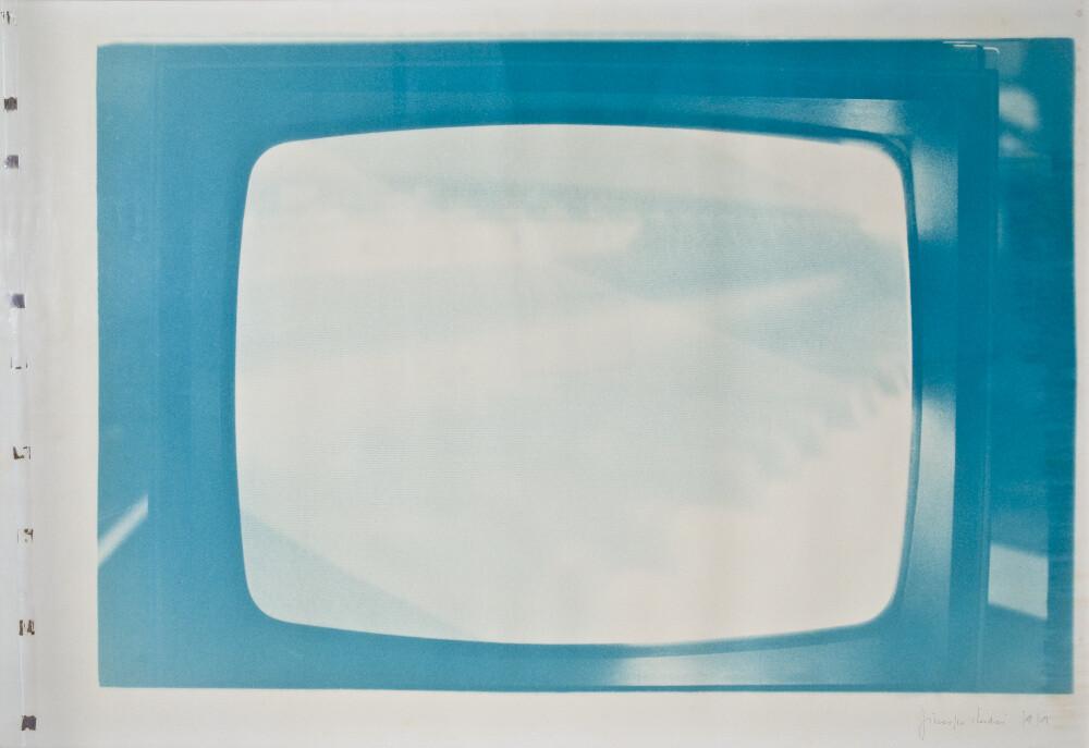 Giuseppe Chiari, Senza titolo (virata in verde), 1979, galleria Il Ponte, Firenze