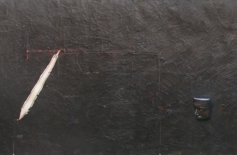 Gilberto Zorio, Progetto interpretazione arbitraria di un lavoro e più di G. Zorio, galleria Il Ponte, Firenze, detail