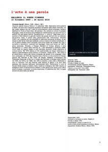 L'Arte é una parola, copertina, galleria Il Ponte, Firenze