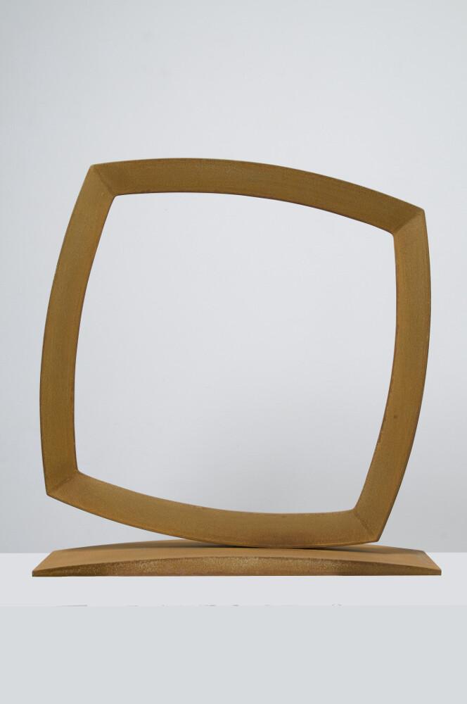 Mauro Staccioli, Cerchio imperfetto, 2010, corten, galleria Il Ponte, Firenze