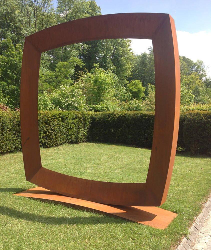 Mauro Staccioli, Cerchio imperfetto, 2014, corten, galleria Il Ponte, Firenze
