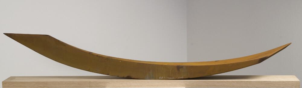 Mauro Staccioli, Lungarno, 2007, corten, galleria Il Ponte, Firenze