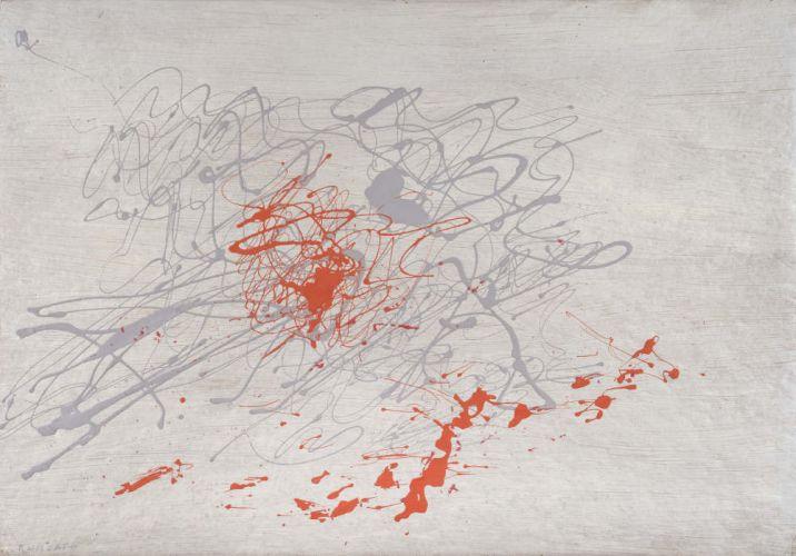 Giulio Turcato, Itinerari, 1970, oil and mixed media on foam rubber, 70x100 cm