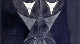 Fisionomia imbutata, 1992, china on paper cm 129x107