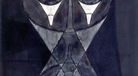 Fisionomia imbutata, 1992, china on paper cm 129x107