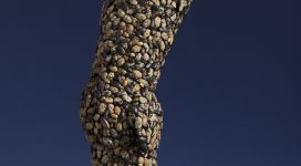 Jan Fabre, Armour (Arm), 1997, jewel beetles on iron wire, 67x21,5x21,5 cm