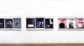 In Morte del Padre, 1984, fifteen polaroid 70x56 cm each, gathered in 5 triptychs