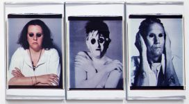 In Morte del Padre, (detail), 1984, fifteen polaroid 70x56 cm each, gathered in 5 triptychs