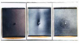 """Trittico """" dell'Ombelico"""", 1990/91, three polaroid, 70x56 cm each"""