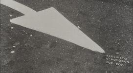 Biglietto d'autobus ecc ecc, (omaggio a C.S. Peirce: indice / icone / simbolo), 1966, b/w photographic canvas, 56x84 cm