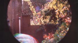 L'automne déjà à Angoulême!, 1985, cibachrome print, pinhole and three-colour photography from b/w negatives, 66x50.8 cm