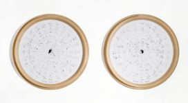 Tondi Cieli (anni '80), photographs printed on round canvases in natural wooden frames, Ø 96 cm