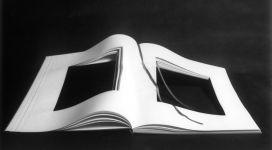 Libro dimenticato a memoria, 1969, book with cloth cover, 70x50 cm