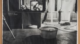 La televisione, la finestra e l'acqua sono tre specchi, 1979, black and white photograph cm 76x108