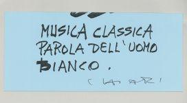 Giuseppe Chiari, Musica classica, (2006), galleria Il Ponte, Firenze