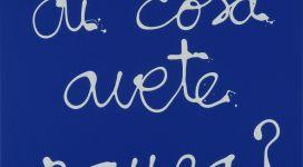 Ben, Di cosa avete paura?, 2007, acrylic on canvas 50x50 cm