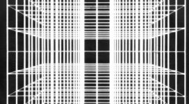 Pietro Grossi, Computer Art, 1985, computer processing 30,4x30,4 cm