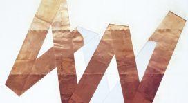 Hidetoshi Nagasawa, Senza titolo, 2004, copper collage on paper 210x300 cm