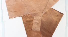 Hidetoshi Nagasawa, Senza titolo, 2004, copper collage on paper 100x70 cm