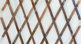 Hidetoshi Nagasawa, Senza titolo, 2005, copper collage on paper 100x70 cm