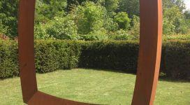 Mauro Staccioli, Cerchio imperfetto, 2014, corten steel 242x234x60 cm